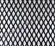 Expanded Steel Grille Mesh - Black Powder Coated - 1220mm x 914mm x 1mm